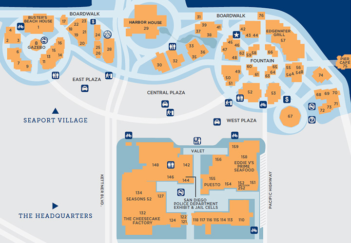 Seaport Village + Headquarters Property Map